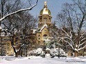 Notre Dame Main Building in Winter