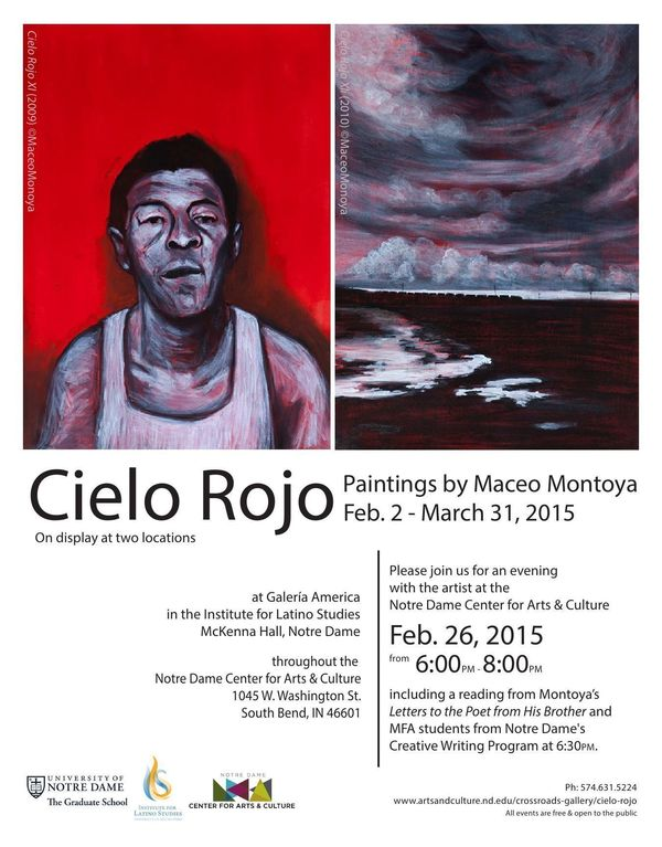 Maceo Montoya Exhibit & Reading Flyer