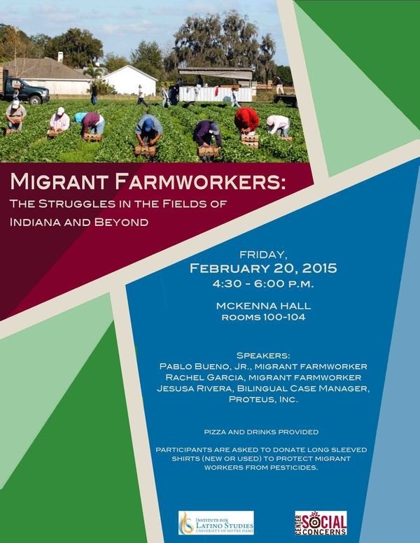 Migrant Farmworkers Event Flyer