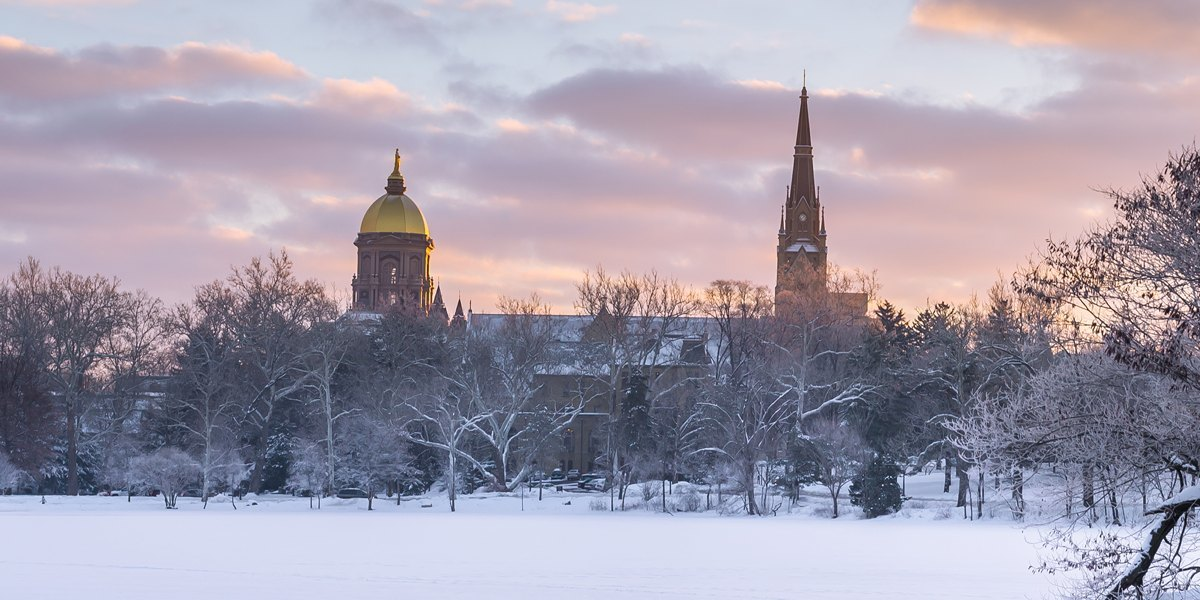 Notre Dame Dome in the Winter
