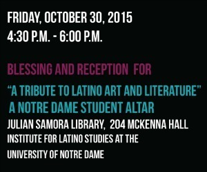2015 Day of the Dead event at Notre Dame