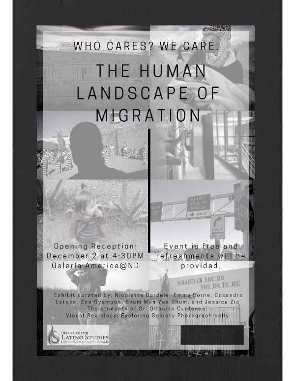 Human Landscape of Migration exhibit poster