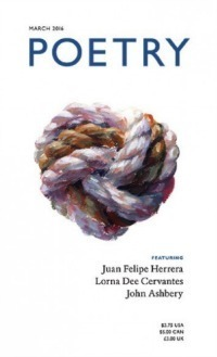 March 2016 cover of Poetry Magazine features Pintura Palabra