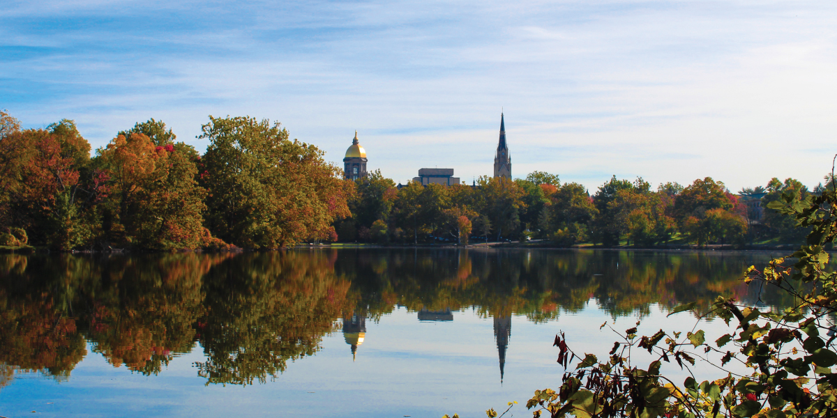 Notre Dame Campus Fall Shot