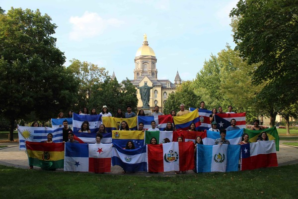 ND Students With Flags