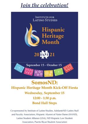 Hispanic Heritage Month Somosnd 2021